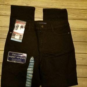 Bandolino Amy black straight jeans
